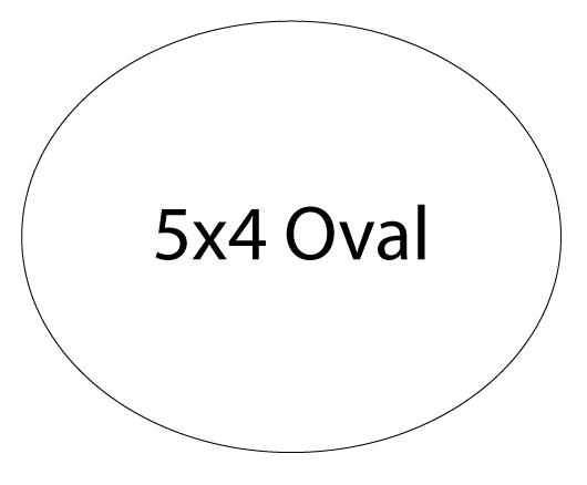 Oval Shape (5x4)