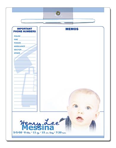 Announcement Laminated Magnetic Memo Board - 8.5x11-191