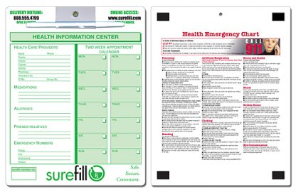 Health Care Laminated Magnetic Memo Board - 8.5x11-193