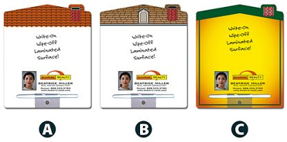 Real Estate Magnetic Memo Board - 8.5x10.125 House Shape-1104