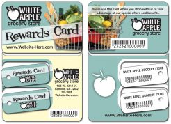 Frequent Shopper Reward Card / Two Key Tag Combo - 4.875x3.375-0