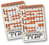 Laminated Wallet Card - 3.5x2.25 Baseball Schedules (2-Sided) - 14 pt.-0