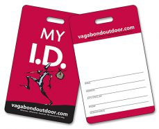 Laminated Card w/Punch-Out Slit - 3.375x2.125 2-Sided-0