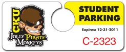 Plastic Hang Tag / Parking Permit- 2x5 - UV Coated 1S-0
