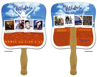 Awareness Hand Fan - 7.375x7.75 Laminated-0