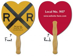 Hand Fan - 8.5x8 Heart Shaped-0