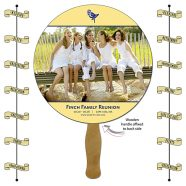 Announcement Hand Fan - 8.5 Inch Diameter Round Circle Hand Fan-0