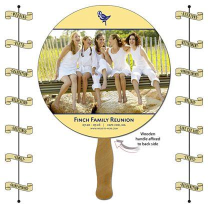 Announcement Hand Fan - 8.5 Inch Diameter Round Circle Hand Fan-0