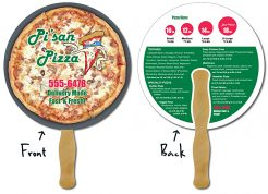 Delivery Hand Fan - 8.5 Inch Diameter Round Circle Hand Fan-0