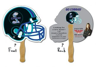 Hand Fan - 10x8.5 Football Helmet Shaped-0