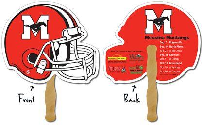Sport Hand Fan - 10 x 8.5 Football Helmet Shape-1071