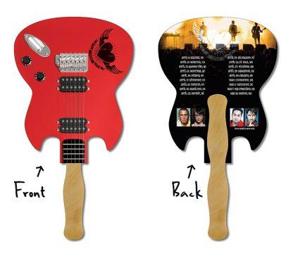 Hand Fan - 6.5x8 Laminated Guitar Shape-1062