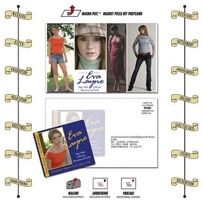 Announcement Postcard Mailer Magnet - 8.5x5.25 with 3.5x4 Magnet-197