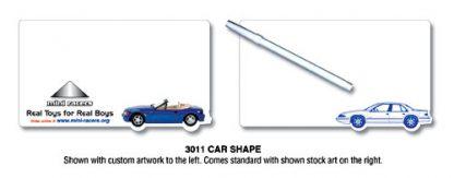 Mini Memo Board - Laminated Car Shape - 8.5x4.875-8