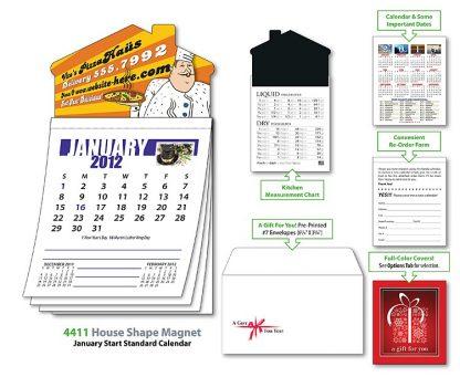 House Shaped 12 Sheet Magnetic Calendar-24