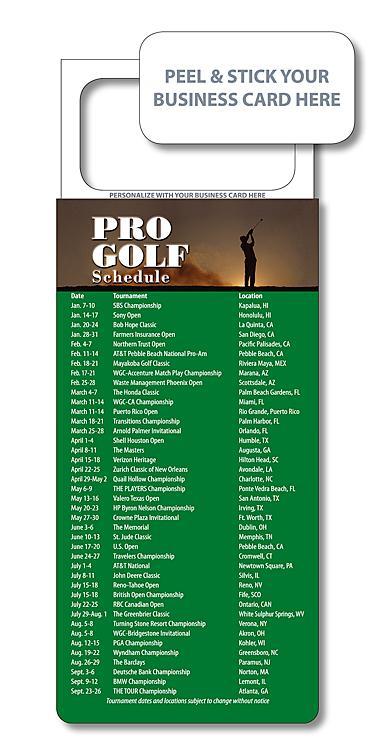 M.B.C. Sport Schedules - Pro Golf 3.5x9-983