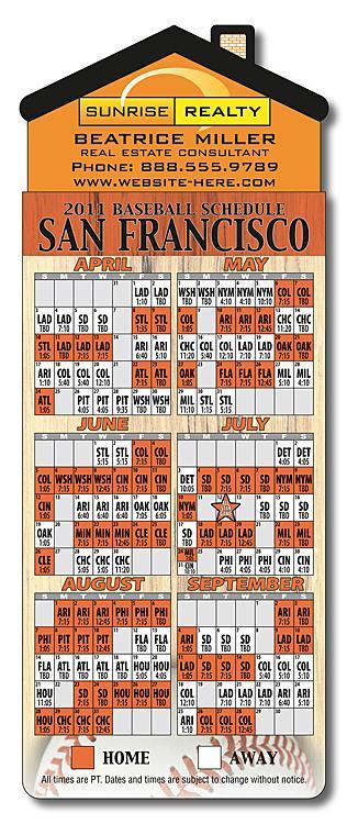 Magna-Card House Shape Magnet - Baseball 3.5x9-52