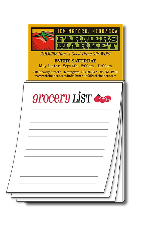 Advertising business card magnet with grocery list magna pad business card magnet stock grocery list 50 sheet 32 colourmoves