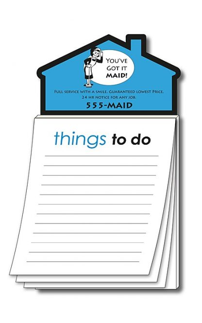 Magna-Pad House Shape Magnet - Stock Things To Do 50 Sheet-34