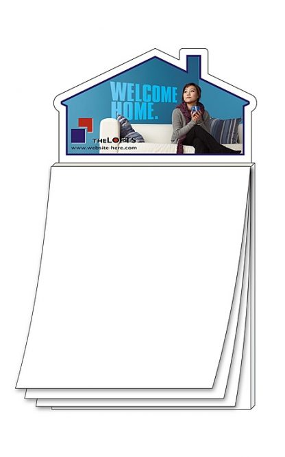 Magna-Pad House Shape Magnet - BLANK Sheet 50 Sheet-36