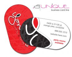 Paper Business Card - B. Unique Shape 3.5x2 UV Coated 1S-0