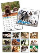 13 Month Custom Appointment Wall Calendar - PUPPIES-0