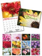 13 Month Custom Appointment Wall Calendar - BEAUTIFUL BLOOMS-0