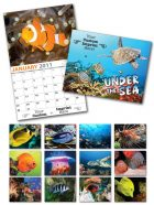 13 Month Custom Appointment Wall Calendar - UNDER THE SEA-0