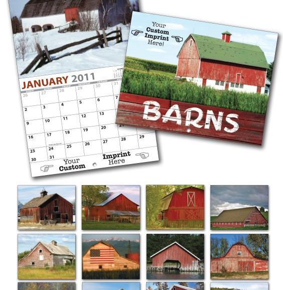 13 Month Custom Appointment Wall Calendar - BARNS-0