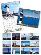 13 Month Custom Appointment Wall Calendar - LIGHTHOUSES-0