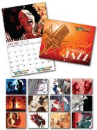 13 Month Custom Appointment Wall Calendar - SMOOTH JAZZ-0