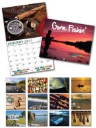 13 Month Custom Appointment Wall Calendar - GONE FISHIN-0