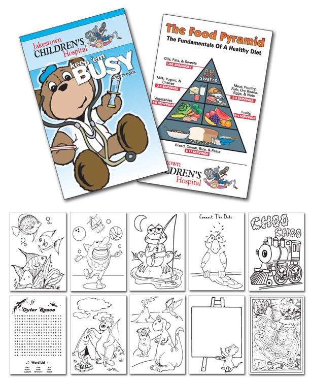 12 Page 55x85 Activity Coloring Book Doctor 1159