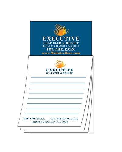 Custom Magna-Pad - 3.5x6.25 25-Sheet with Business Card Magnet-0