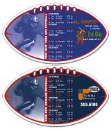 Magnet Sport Schedule - Football Shape 7x4-0