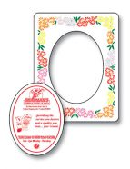 Magnet - Picture Frame Oval Punch 3.5x4.5-0