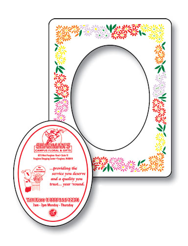 Magnet - Picture Frame Oval Punch 3.5x4.5-95