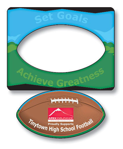 Magnet - Picture Frame Football Punch 3.5x4.5-102