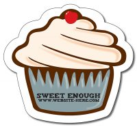 Magnet - Cupcake Shape Approx. 4.0625x3.75-0