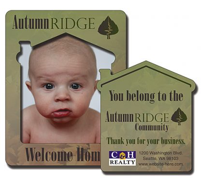 House Shaped Picture Frame Magnet - 3.5x4.5-297