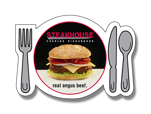restaurant advertising magnets plate silverware shaped magnets