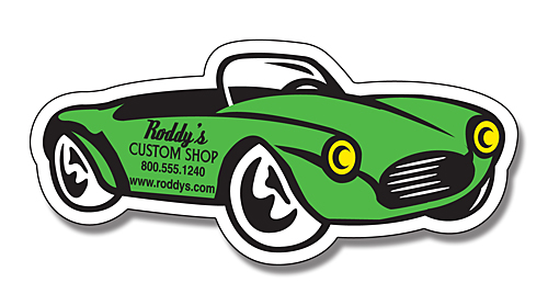 Car And Truck Shaped Magnets Convertible Auto Shaped Magnet - Custom sport car magnets
