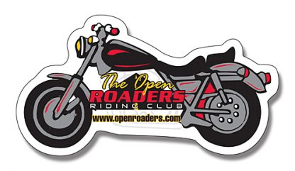 Motorcycle Shape Magnet - 4.25x2.25-118