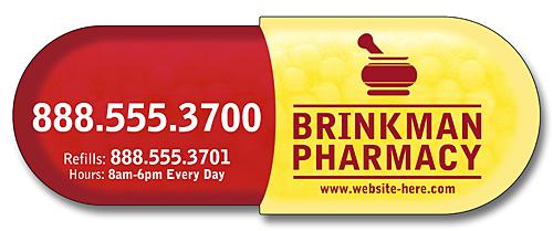 Pill Shape Magnet - 1.875x5.125-123