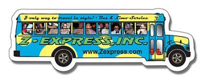 Magnet - School Bus Shape 5.25x1.75-124