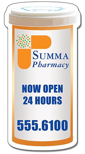 Medicine Bottle Shape Magnet - 2.25x4.3125-125