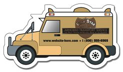 Financial Services Armored Truck Shape Magnet - 4x2.25-0
