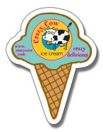 Ice Cream Cone Shape Magnet - 2.25x2.875-0