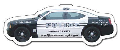 Police Car Shape Magnet - 4.5x1.65-147