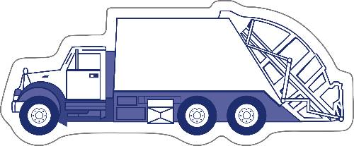 Garbage Truck Shape Magnet - 4.25x1.75-0